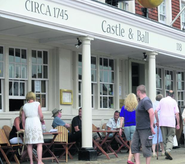 The Castle & Ball hotel in Marlborough was closed because of a virus but has now reopened