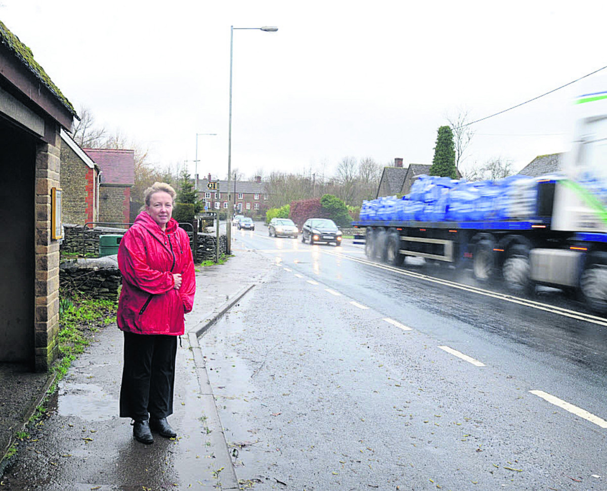 Road safety group member Edelgard Chivers wants to see a pedestrian crossing in Corston