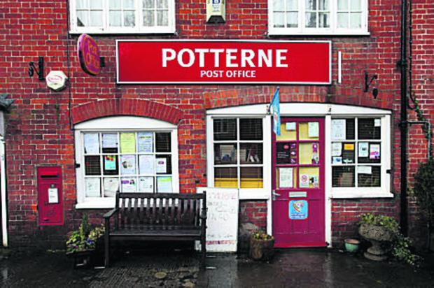 Potterne Post Office where two raiders demanded £2,000, but got £20