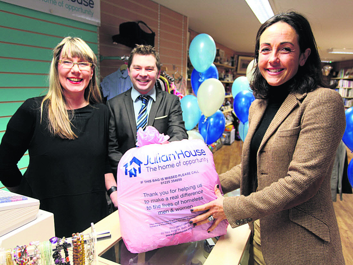 Linda Raud, Guy Fendy and Lady Venetia Fuller at the shop launch
