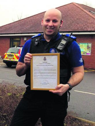 PCSO Mark Cook used local knowledge to home in on his suspect