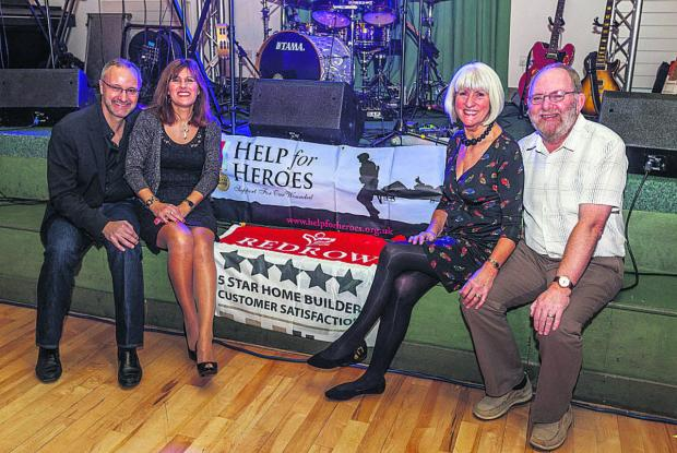 The Wiltshire Gazette and Herald: Event organisers, from left, Rob MacNevin, Chriss MacNevin, Jan Worth and Barry Worth