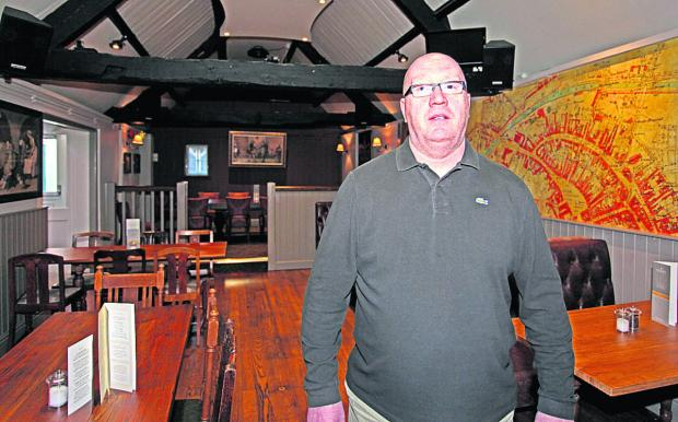 Jim Lynch, landlord of The Crown in Devizes                   (VS136) By VICKY SCIPIO