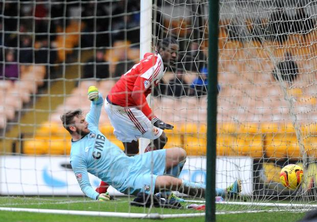 Nile Ranger scores Town's opener against Port Vale