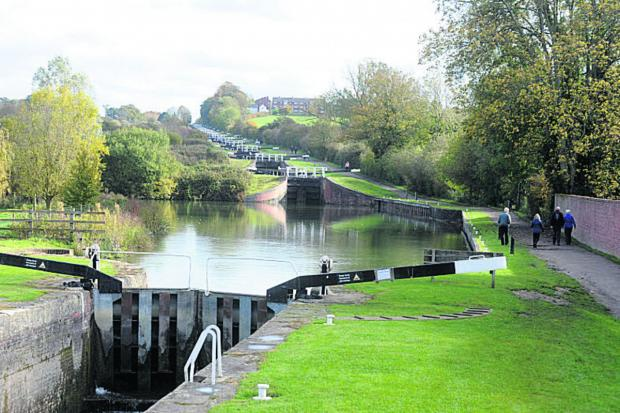 The Wiltshire Gazette and Herald: Caen Hill locks is one of the highlights of Devizes for tourist