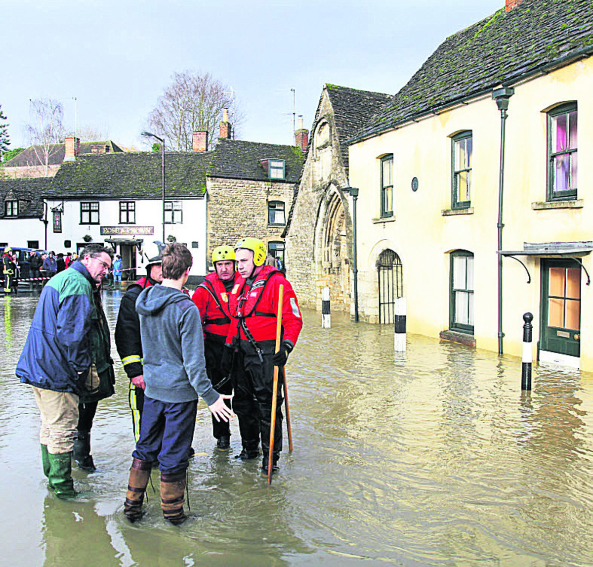 Malmesbury residents fear a repeat of scenes like this in 2012 when the town centre was flooded