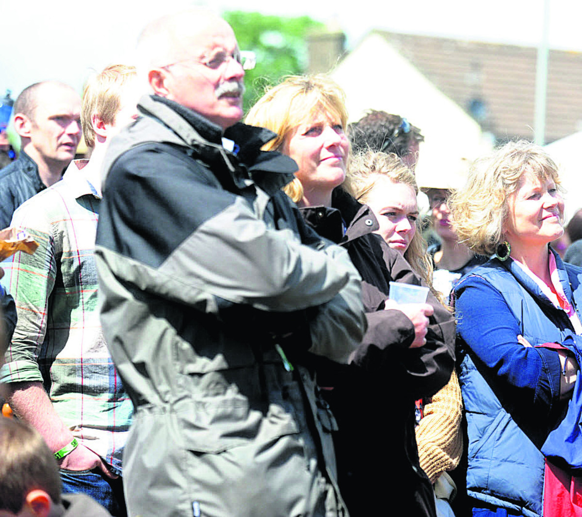 Onlookers enjoy the music at last year's SherstonFest