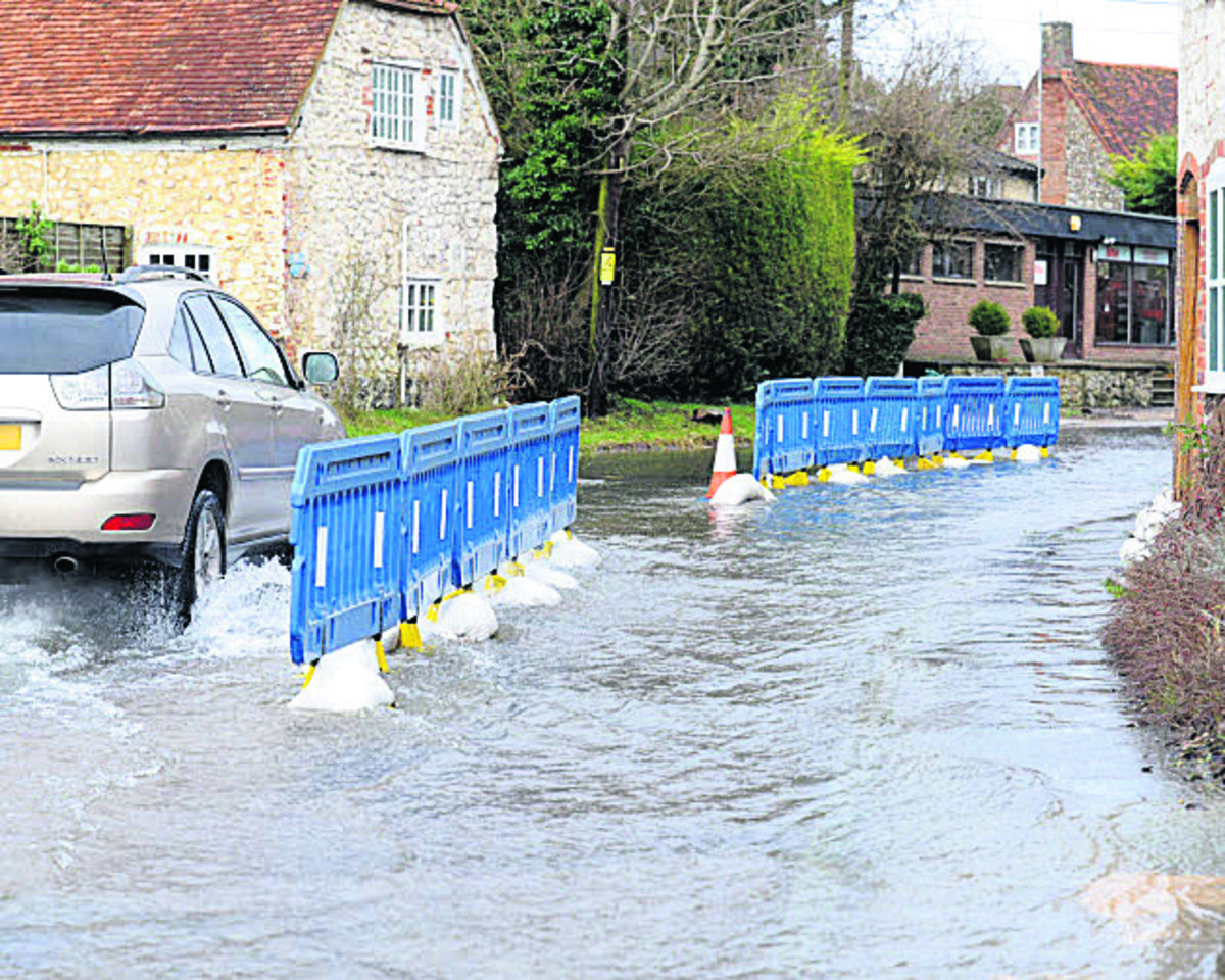 Flooding in Lottage Road, Aldbourne, this week
