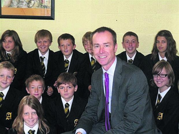 Abbeyfield School headteacher David Nicholson, who is leaving after eight years