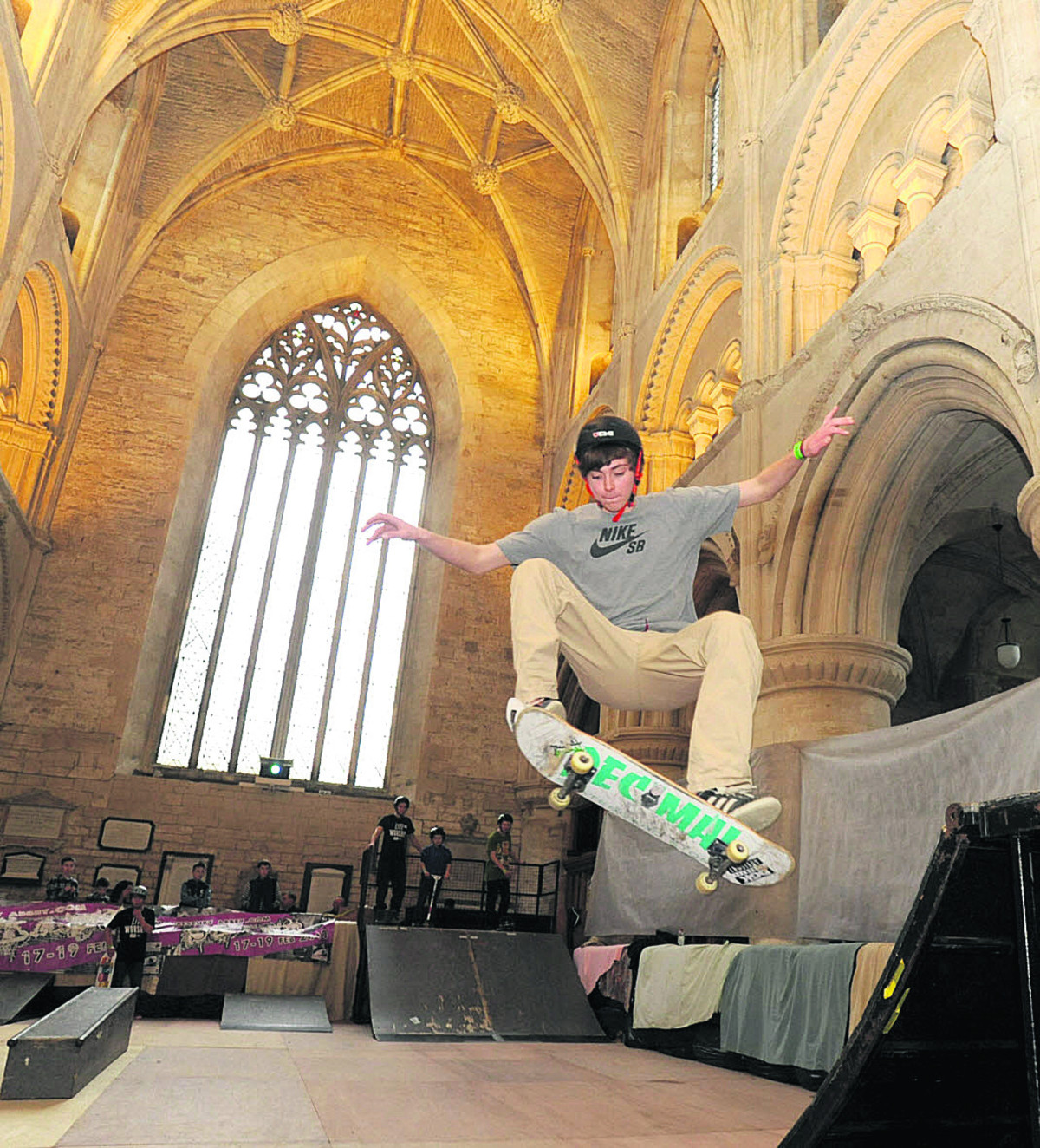 Jason Harwood at a previous Malmesbury Abbey skate park event