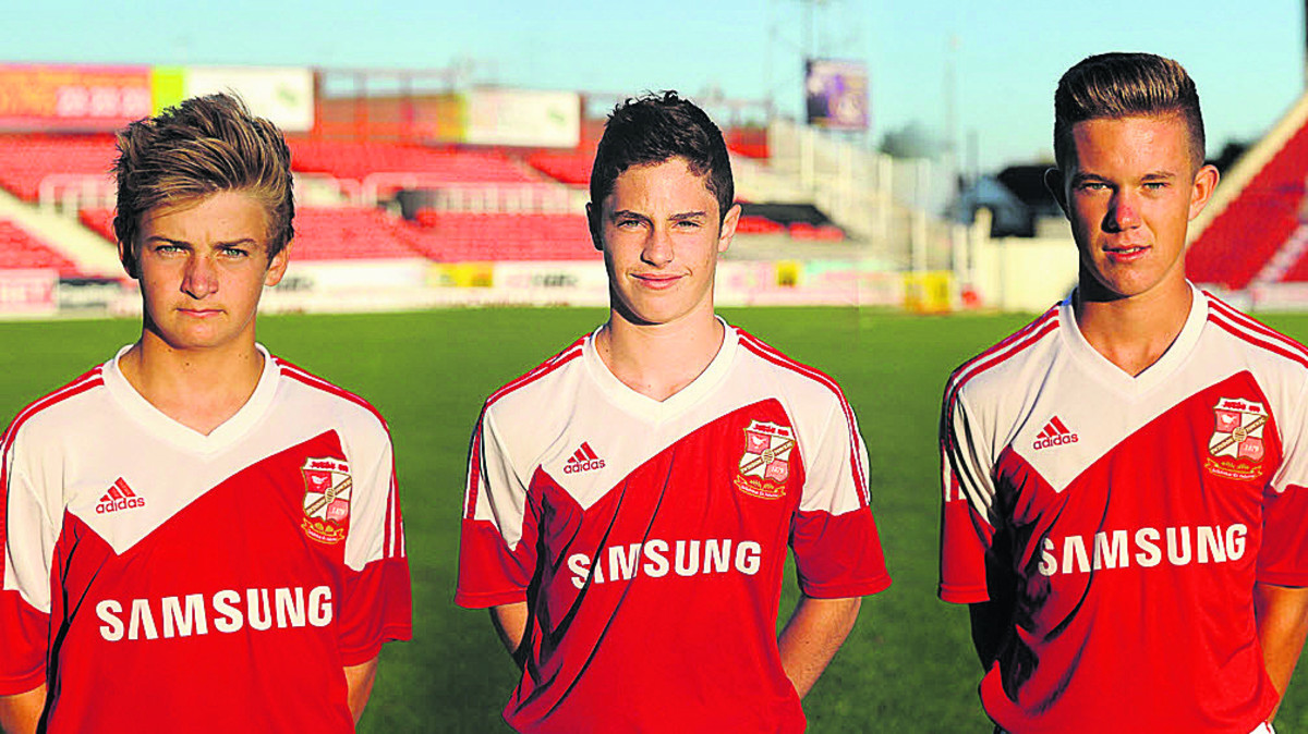 Town's Scotland youth trio Callum Gunner, Jordan Young and Will Christopher