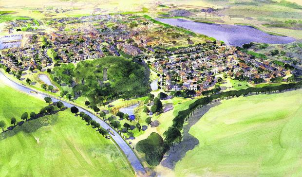 An artist's impression of the new Lay Wood estate