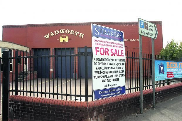 The Wiltshire Gazette and Herald: Wadworth Brewery's wine warehouse site in Northgate Street, Devizes