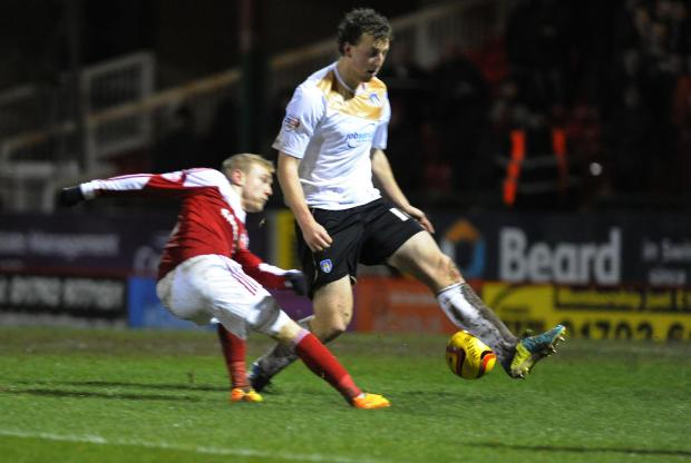 Action from Town's 0-0 draw with Colchester