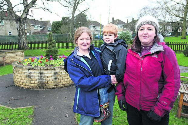 The Nature Of It's founding officer Camillia Merrett and son Ciaran with the organisation's founder Leanne Taylor in the garden area at John Coles Park