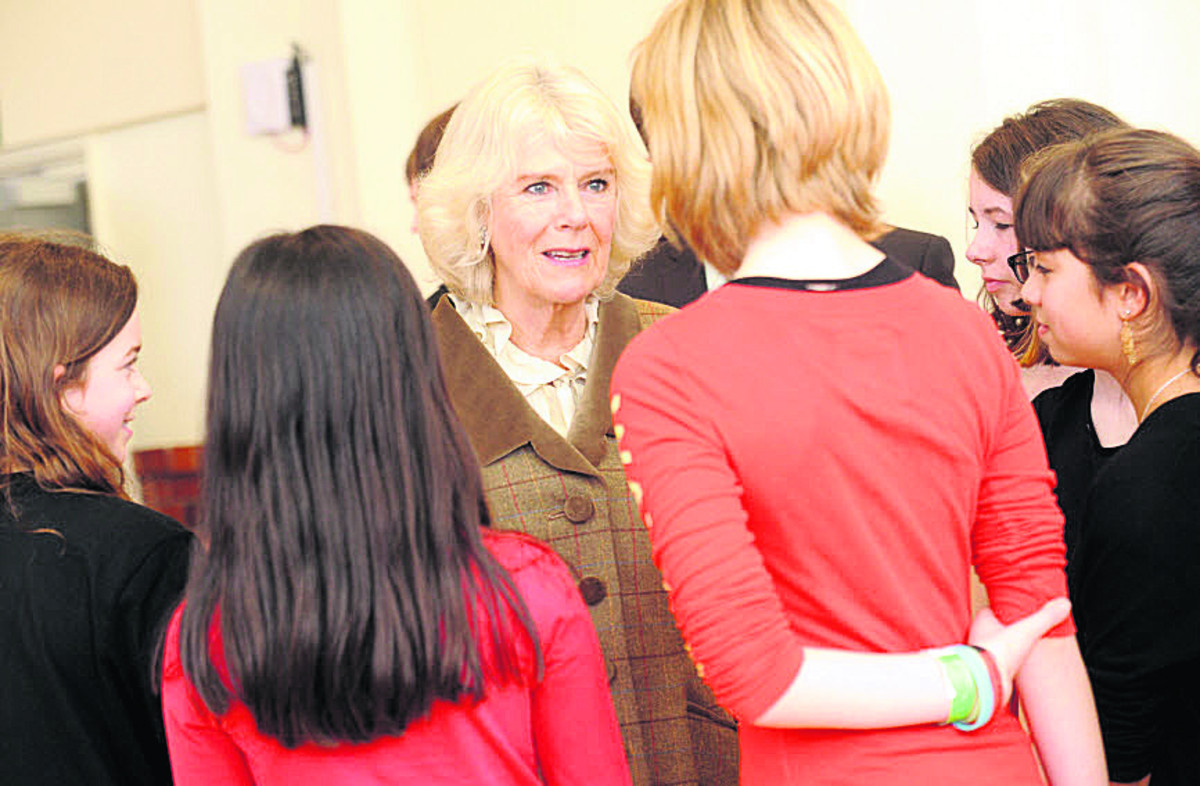 My paintings ended up in the bin, Duchess of Cornwall jokes while visiting Corsham arts centre