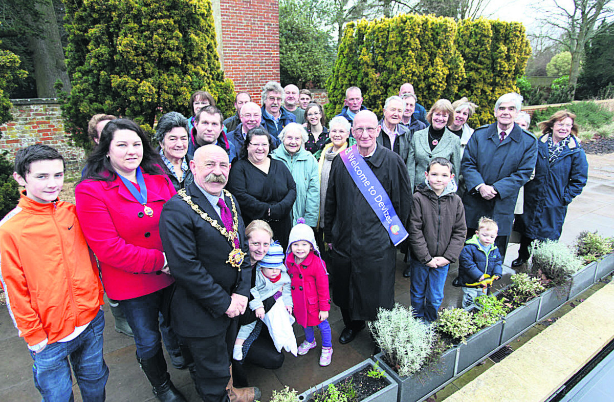 The Devizes and Roundway in Bloom committee and community groups gather for the launch of this year'