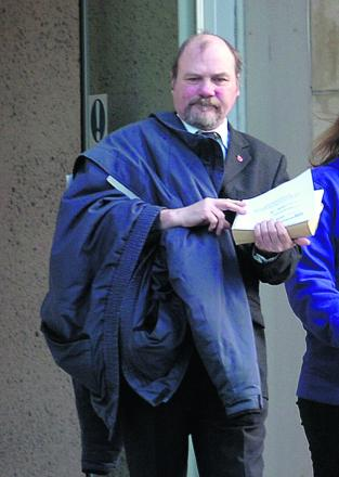 Bus driver David Papworth at court on Thursday