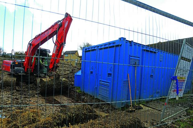 The building site at Stanley Close, Wanborough, where the skeleton was found