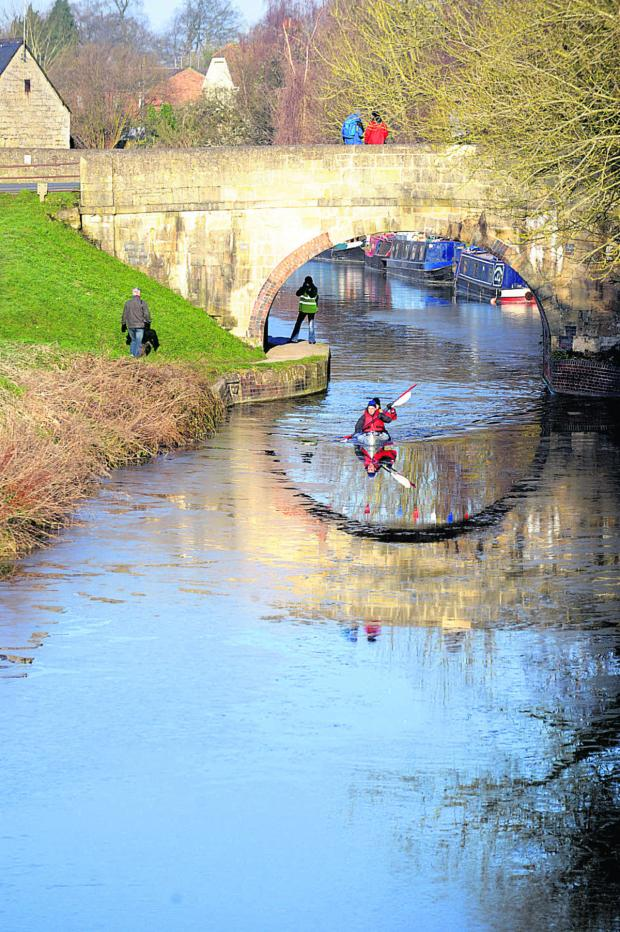 The Wiltshire Gazette and Herald: Competitors head off in chilly waters last year