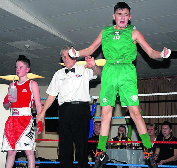 Johnny Ward celebrates his victory over Josh Field last weekend