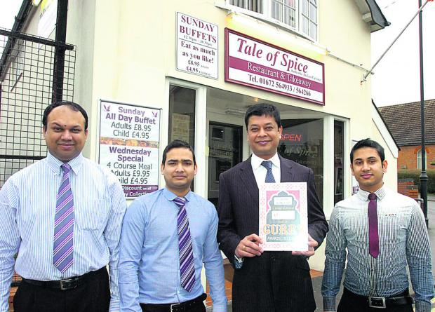 The Wiltshire Gazette and Herald: Tale of Spice winners, from left, Masud Shohel, Jashim Abul, Parves Sheikh and Monjur Morshed