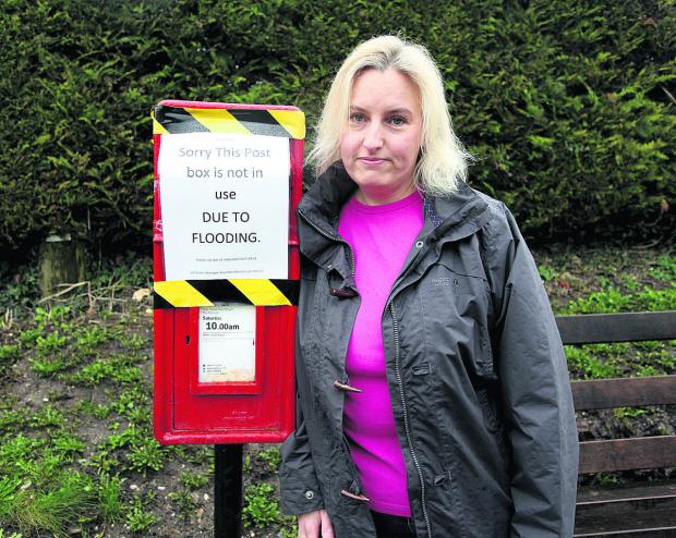 The Wiltshire Gazette and Herald: Kate Digman with the postbox in Lottage Road