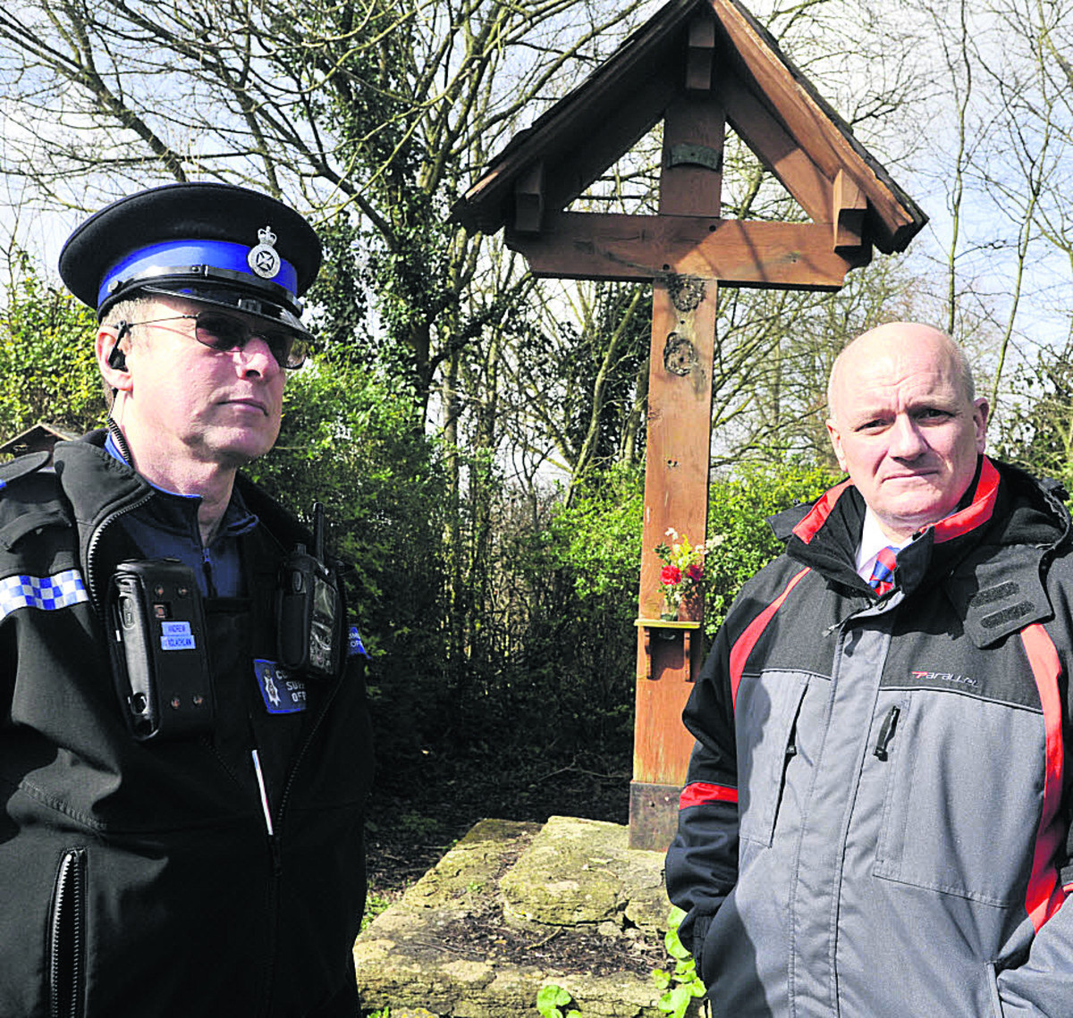 Theft of bronze Jesus statue shocks Wingfield villagers