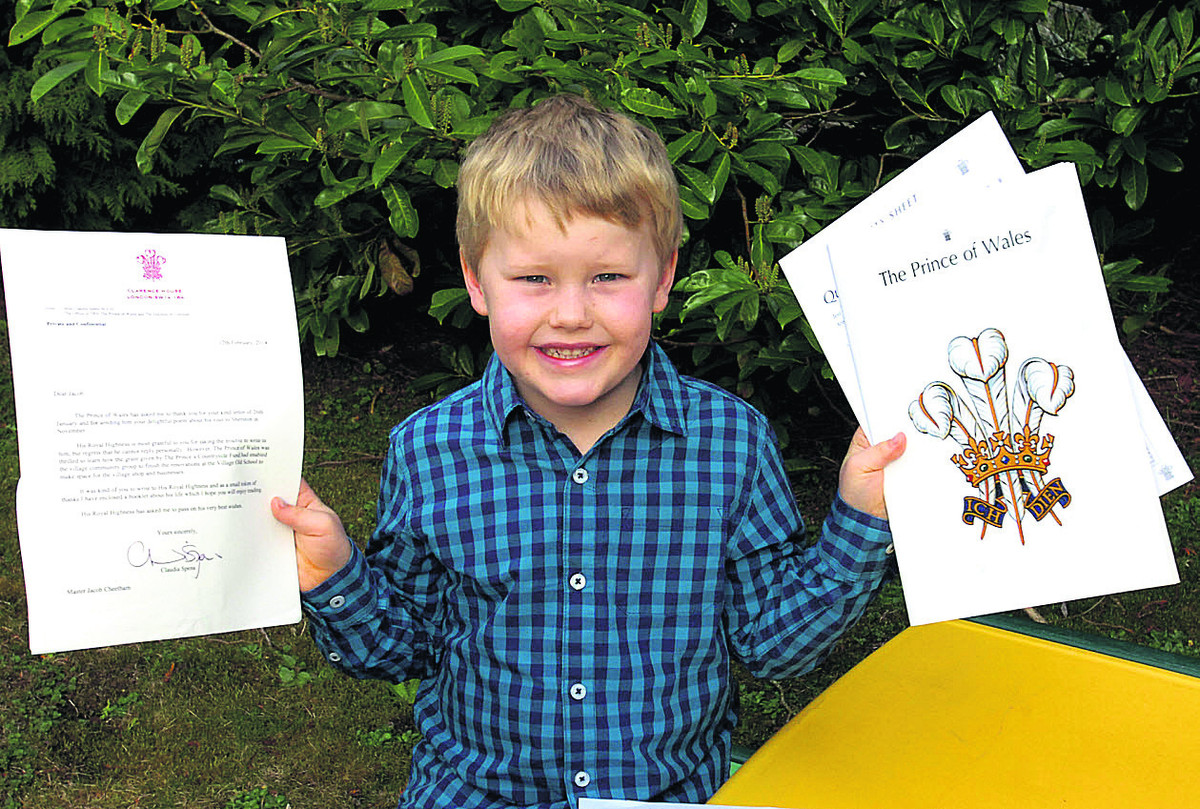 Prince Charles delighted by Sherston boy's poem