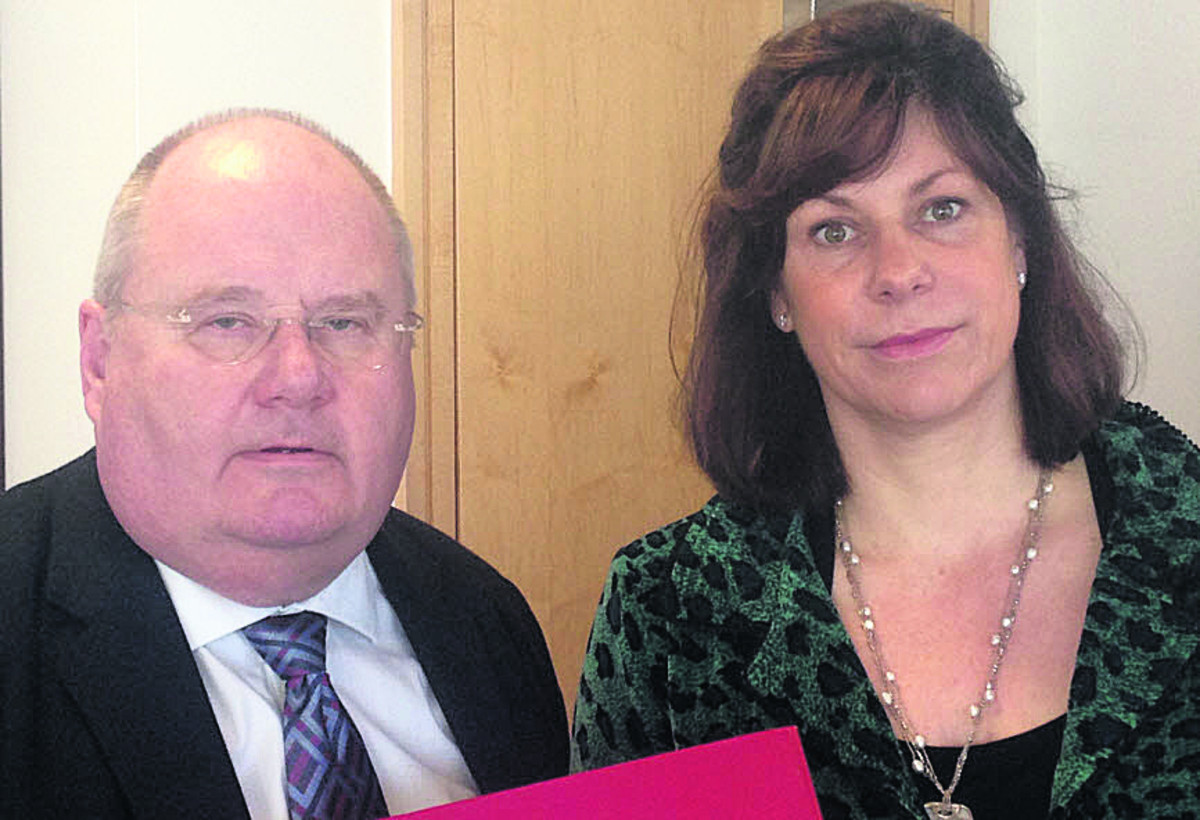 Eric Pickles, Secretary of State for Communities and Local Government, and Devizes MP Claire Perry today