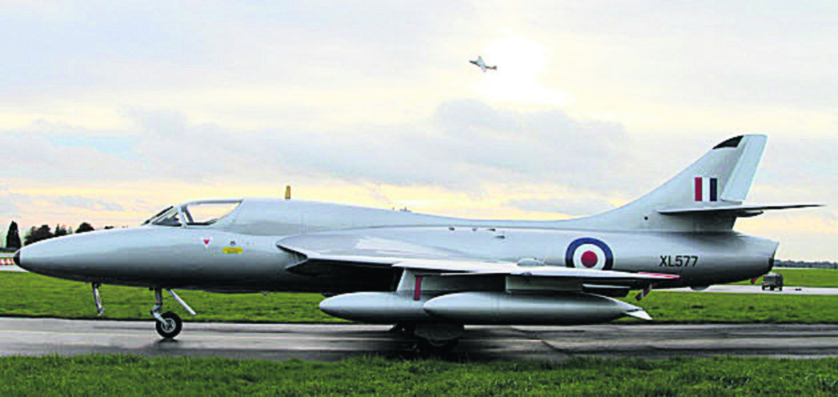 Midair Squadron's Hunter XL577 will make its debut display at Abingdon Air and Country Show