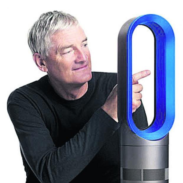 The Wiltshire Gazette and Herald: Sir James Dyson with an Air Multiplier fan