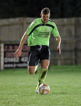 Bryan Smith, pictured in action against Arlesey Town on Tuesday night (Photo: Chippenham Town FC)