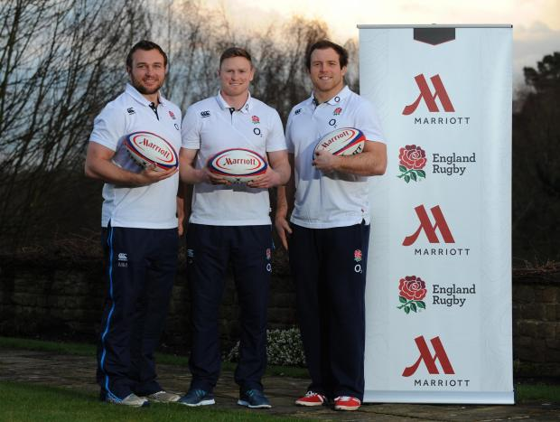 The Wiltshire Gazette and Herald: England's Matt Mullan, Chris Ashton and Henry Thomas (right)