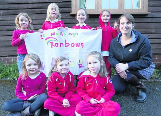 Group leader Rachel Fry with the members of the new Rainbow group as they make their promises at Manton Village Hall                                                                                 (VS210) By VICKY SCIPIO