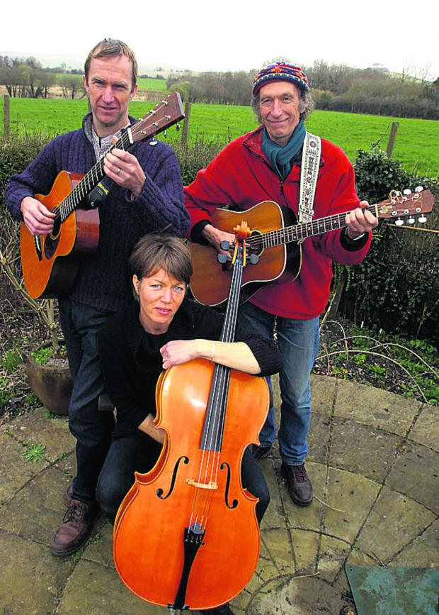 The Wiltshire Gazette and Herald: Yirdbards members Patrick Randall, Paul Darby and Verity Sharp are finishing off the EP                      (PM1110) By PAUL MORRIS