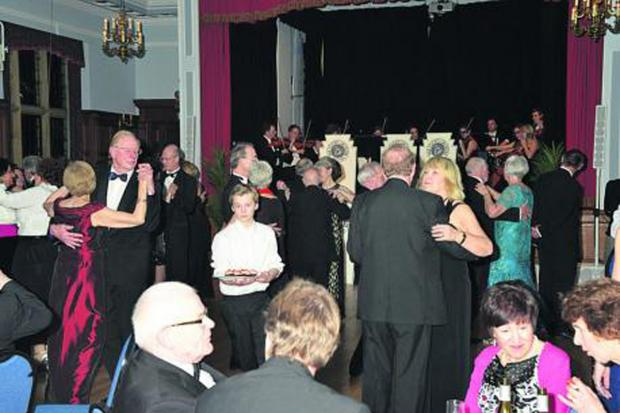 The Wiltshire Gazette and Herald: The dance evening in full swing at Marlborough Town Hall