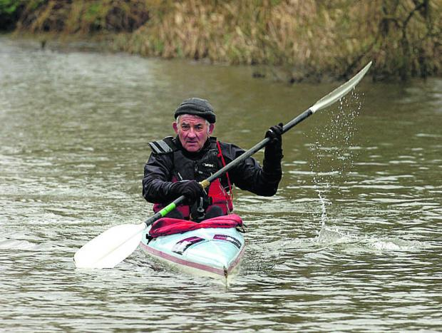 The Wiltshire Gazette and Herald: Bob Norbury in training for next month's Devizes to Westminter
