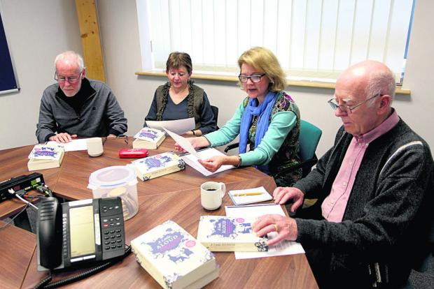 The Wiltshire Gazette and Herald: From left  are Noel and Sue Hardy, group leader Josephine Corcoran and David Haley 								  (VS235) By VICKY SCIPIO