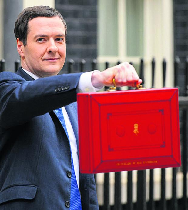 The Wiltshire Gazette and Herald: The Chancellor, George Osborne, in Downing Street today