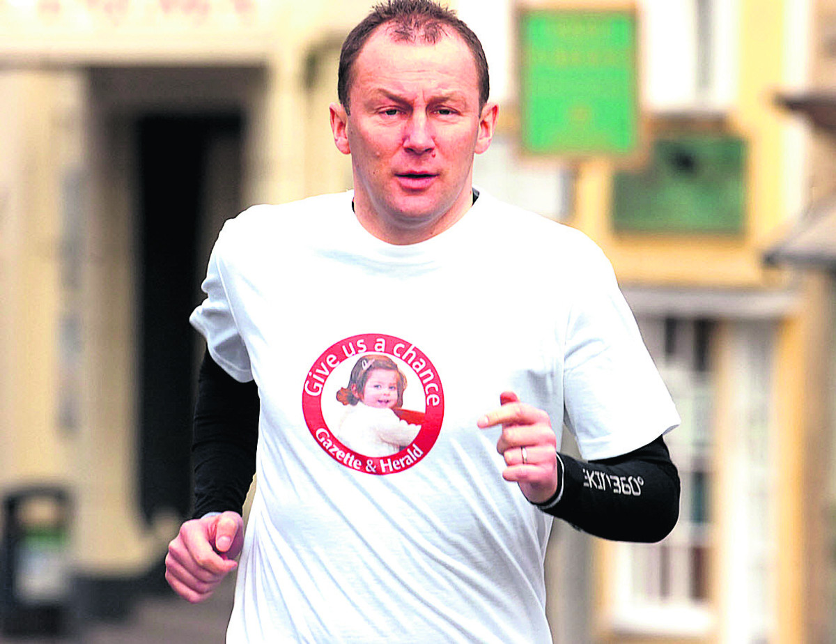 Andy Coombes is running the London marathon for the Opportunity Centre.              (PM1126) by PAUL MORRIS