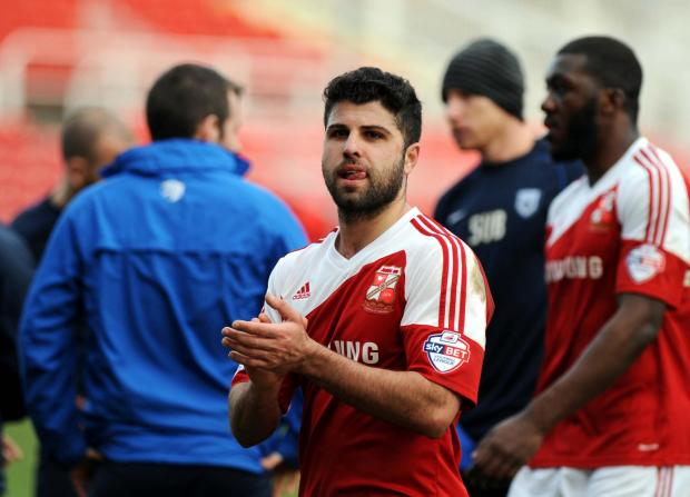 The Wiltshire Gazette and Herald: Yaser Kasim missed training with Swindon Town on Thursday