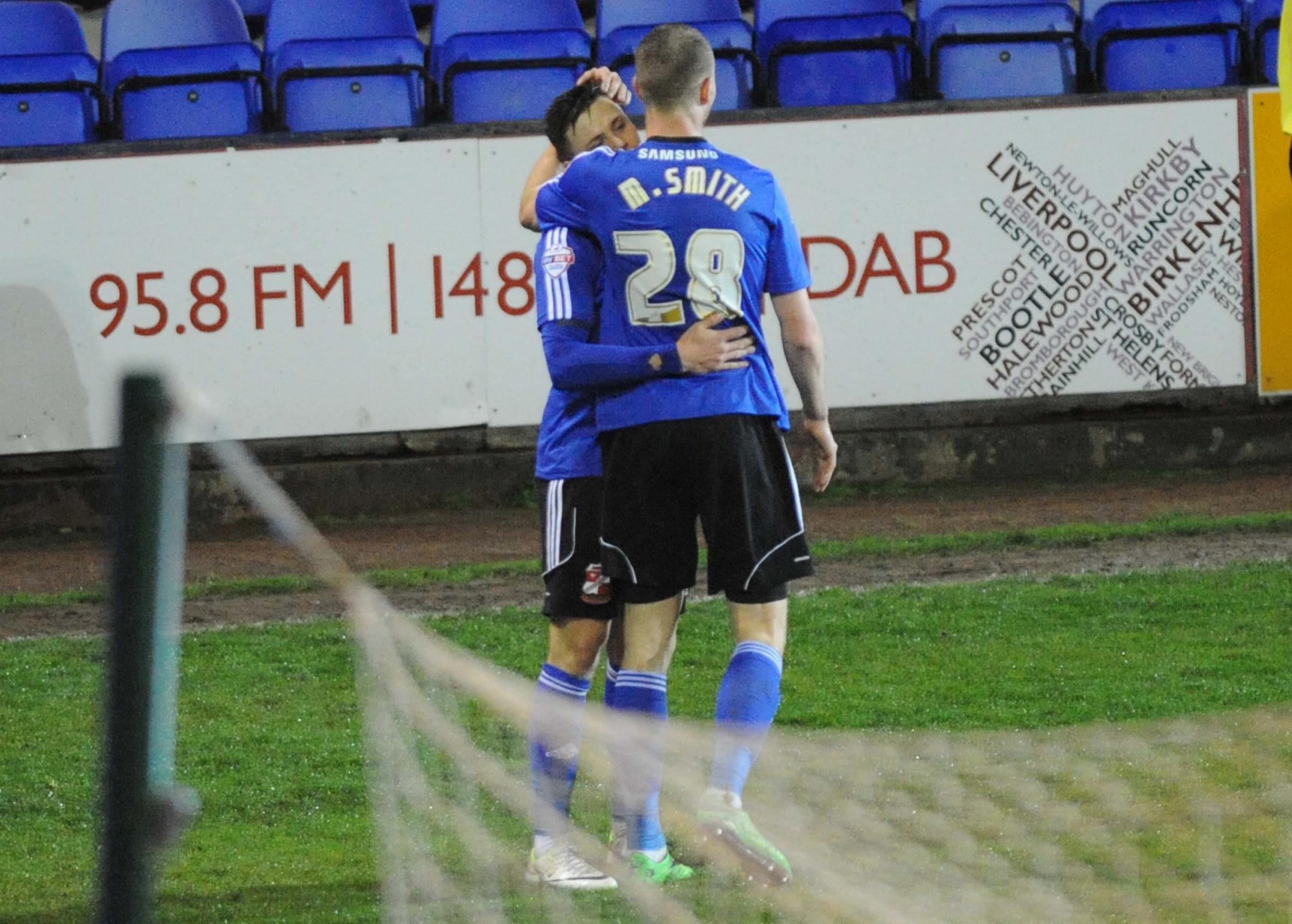TRANMERE ROVERS 1 SWINDON TOWN 2
