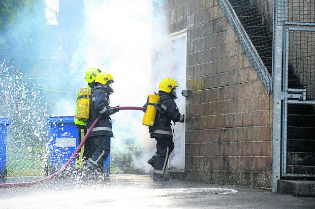 Young jobseekers get to grips with hoses to boost their self-confidence