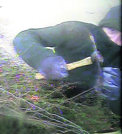 Police have issued this CCTV image of a man they want to speak to about vandalism at a house on the A365 near Melksham Oak Community Schoo