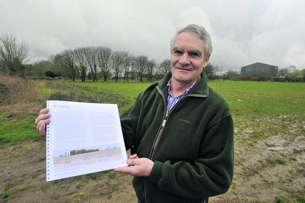 The Wiltshire Gazette and Herald: Tim Barton with revised plans for a solar farm on his land