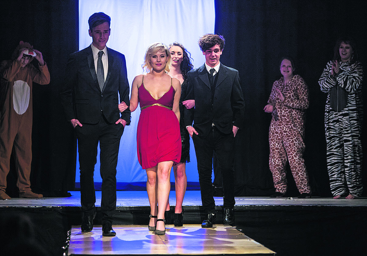Youngsters at Devizes School during the fundraising fashion show