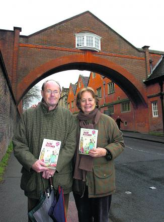 Neil Hall and his wife Lucinda with his new book An English Baby Boomer – My Life and Times
