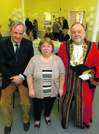 MP James Gray, Coun Julie Exton and Mayor John Gundry at the opening