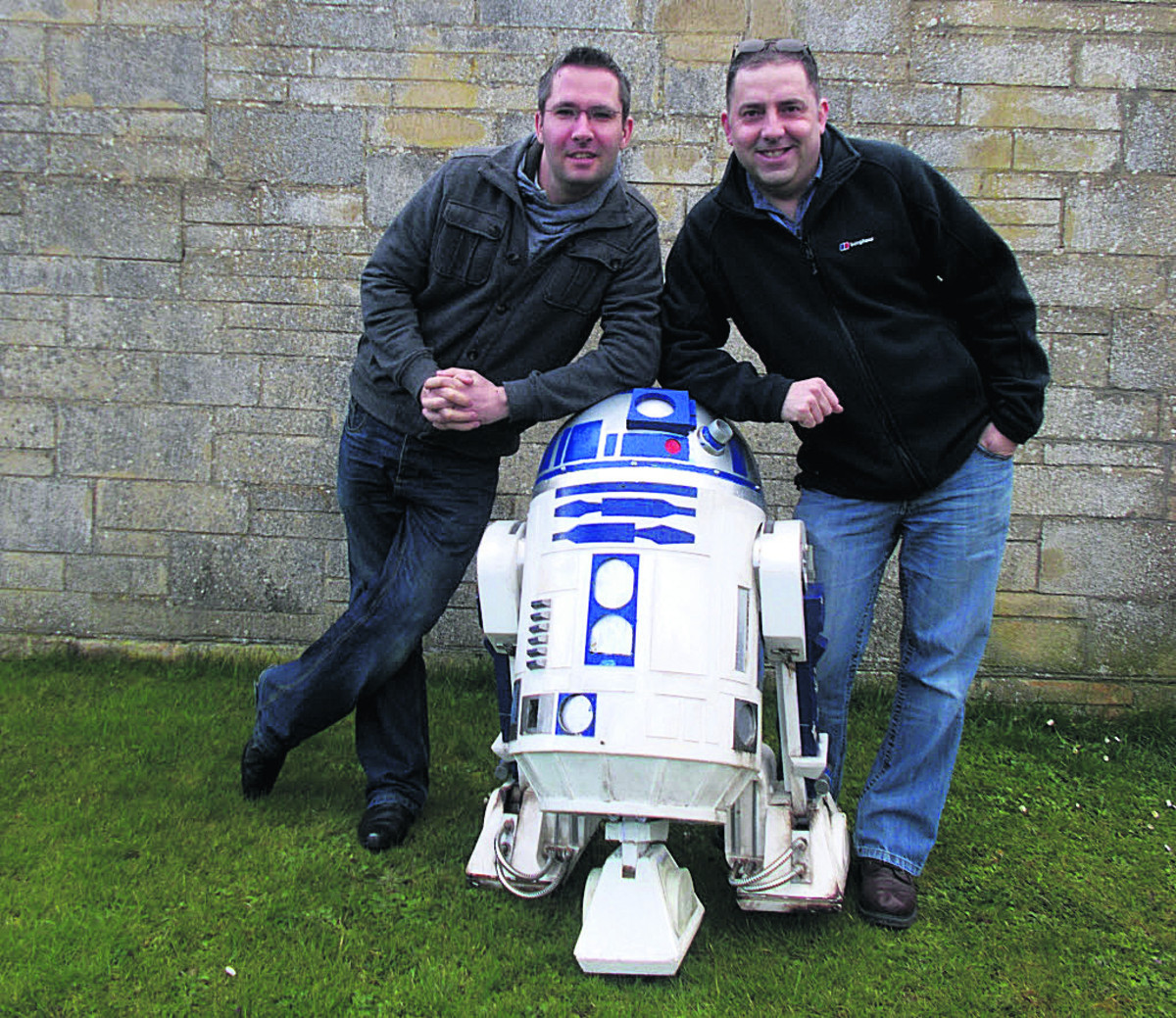 Anthony Milner, left, and Martin Coates, right, who are settting up Chippenham's first sci-fi event